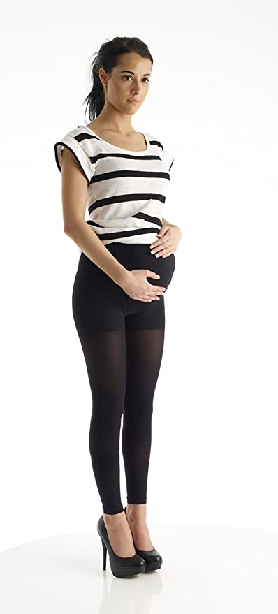 Amazon Com Absolute Support Xl Compression Maternity Leggings Over The Belly Graduated Footless Compression Stockings Maternity Tights 20 30mmhg Firm Support Size Xl Black A718bl4 Health Personal Care