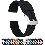 Barton Elite Silicone Watch Bands - Quick Release - Choose Strap Color & Buckle Color (Stainless Steel, Black PVD or Gunmetal