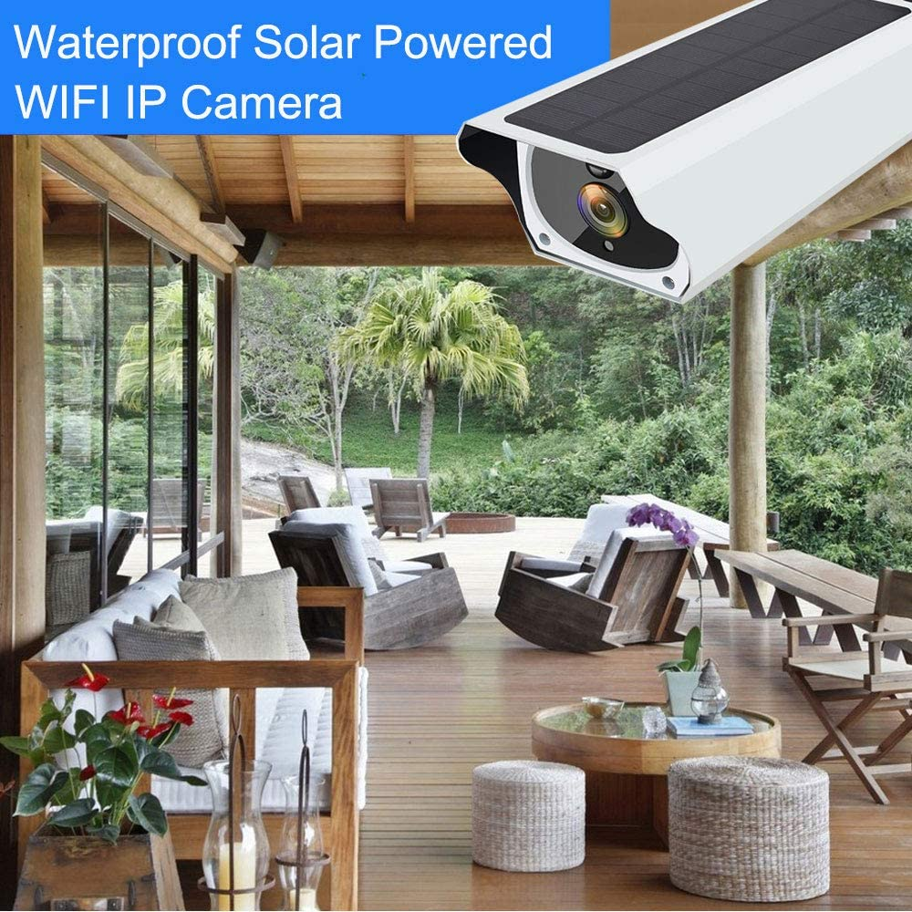 Solar WiFi IP Camera 1080P HD Outdoor Rechargeable Battery ...