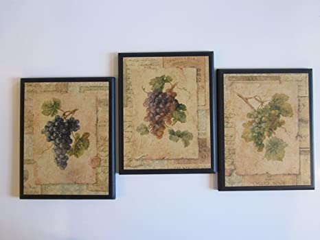 white wine and grapes kitchen decor wooden wall sign tuscan ...