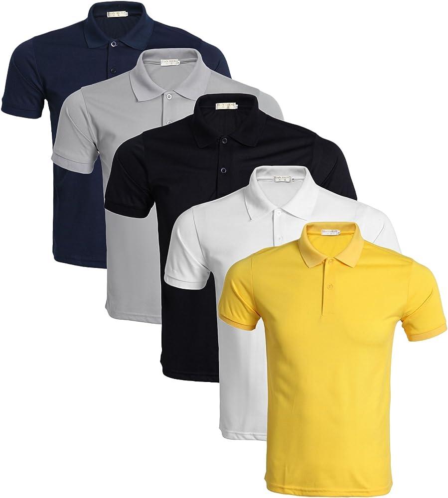 LEOCLOTHO Polo para Hombre Manga Corta Golf Tennis Camisetas ...