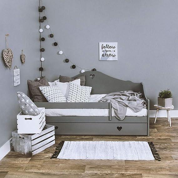 Cama infantil completa con colch/ón de 160 x 80 cm y somier y caj/ón LULU SOPHIE para ni/ños a partir de 2 a/ños color blanco