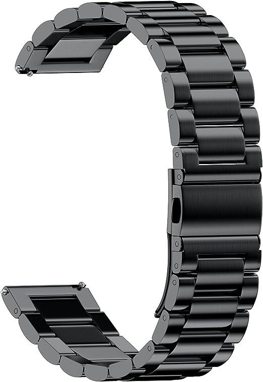 NotoCity 20mm Stainless Steel Metal Watch Band Compatible with Samsung Gear S2/Galaxy Watch (42mm)/Gear Sport/Garmin Vivoactive 3/Vivomove HR ...