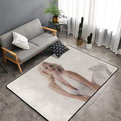 Marilyn Monroe Carpet Area Mat Bedroom Camping Soft Mat Kids Boys Girl Blankets Kindergarten Home Room Comfortable and Durable Decor Rug Polyester 60 X 39 Inch: Kitchen & Dining