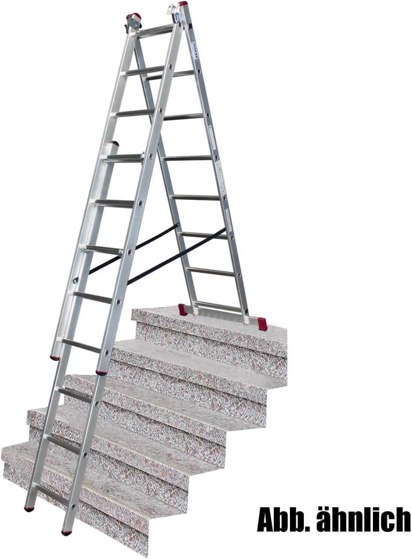 Krause Corda - Escalera multiusos (aluminio, 3 x 10 peldaños, 615 cm): Amazon.es: Bricolaje y herramientas