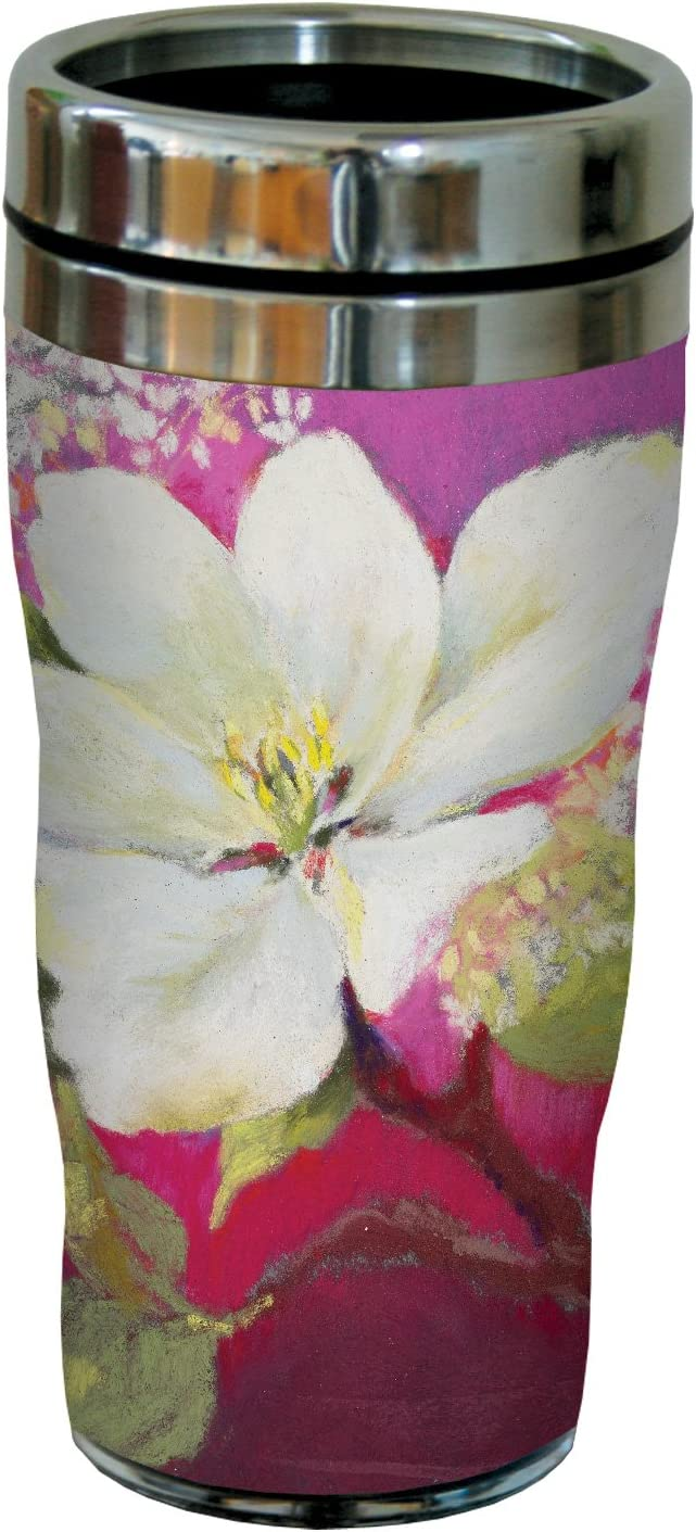 Tree-Free Greetings Apple Blossom by Nel Whatmore Travel Tumbler, 16-Ounce