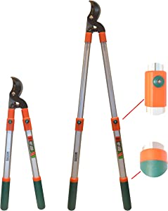 V VICROAD Bypass Lopper with Comfort Gel Grips,Telescoping Loppers, Anvil Hedge Clippers, Tree Trimmer Pruner Cutters