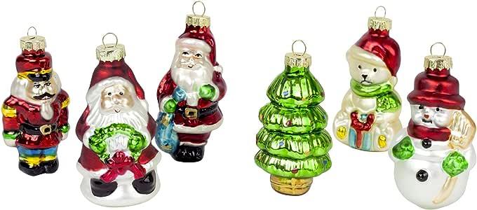 6-Pack clásico árbol de Navidad adornos de decoración de bolas de ...