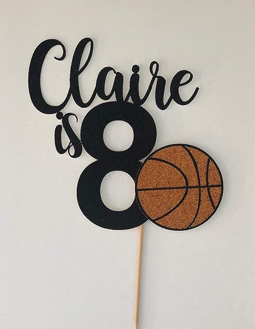 Decoración para tarta de cumpleaños con diseño de baloncesto ...
