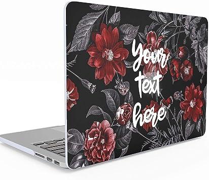 Texto personalizado personalizado Tumblr Cita inspiradora o motivacional Cree su propia caja MacBook floral de 12 pulgadas con pantalla Retina A1534, cubierta de estuche rígido: Amazon.es: Electrónica
