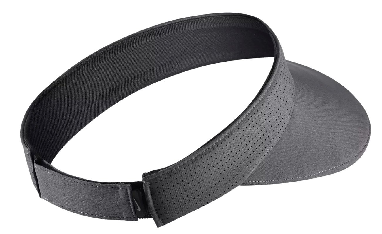 Nike Aerobill Tour Big Bill Wide Brim Adjustable Visor, Women's, GunSmoke by NIKE (Image #2)