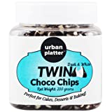 Urban Platter Dark & White Twin Choco Chips, 200g