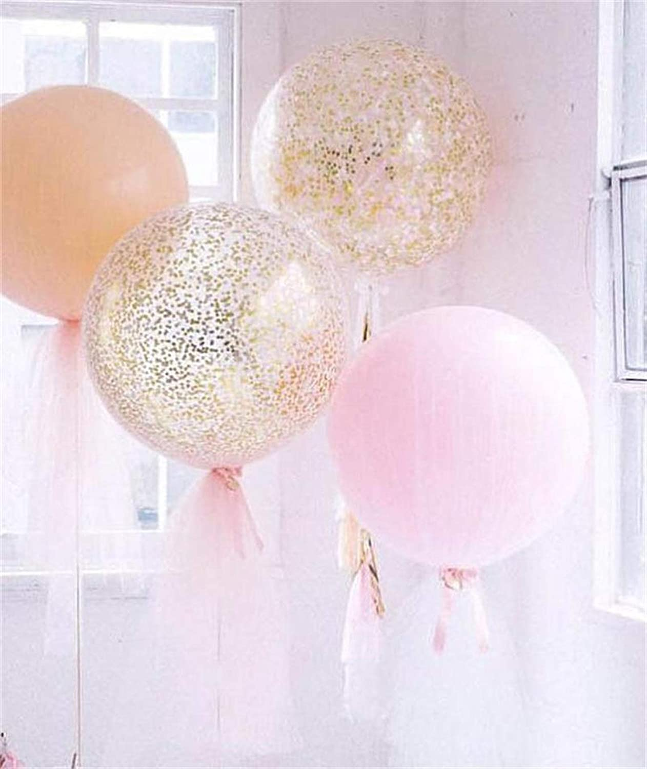"""10/""""-36/"""" Transparent Clear Balloons Birthday Wedding Party Decor NO Wrinkle FO"""