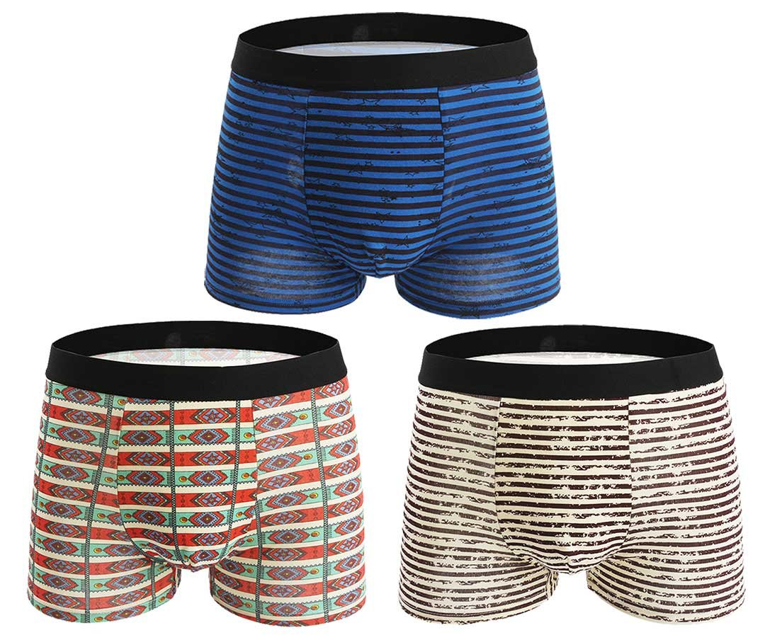 Seaoeey Boys Mens Boxer Briefs 3 Pack Cotton Modern Breathable Underwear Mix Color4 X-Large by Seaoeey (Image #1)