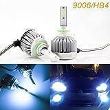 9006 LED Headlight Bulbs HB4 Ice Blue 8000K COB Headlights Conversion Kit For High/Low Beam Daytime Running Lights Newest Model, 2pcs