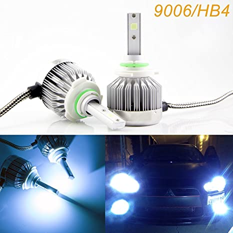 Led Headlights For Cars >> 2x 9006 Hb4 Ice Blue 8000k Cob Led Headlight Bulbs Conversion Kit For High Low Beam Daytime Running Lights Newest Model