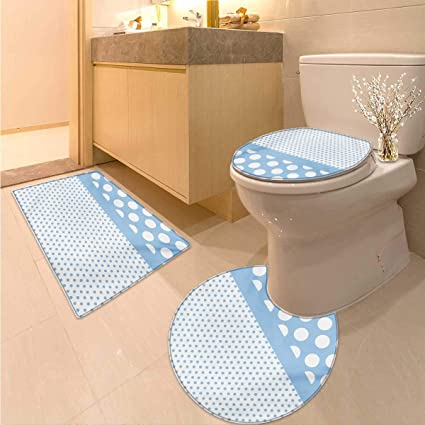 Amazon.com: Anhuthree Polka Dots Toilet Carpet Floor mat Set Baby ...