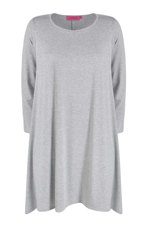 Fanessy Frühling Langarm Kleid Casual Kleider Nightshirts Rock sweatkleid Große Yards M-3XL