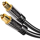 KabelDirekt Optical Digital Audio Cable (10 Feet) Home Theater Fiber Optic Toslink Male to Male Gold Plated Optical…