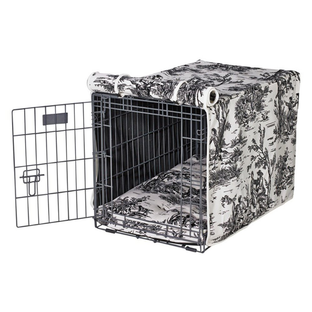 Bowsers Luxury Crate Cover, X-Large, Onyx Toile