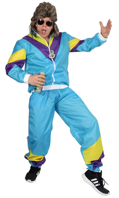 Foxxeo Traje de los años 80 para Hombres al Carnaval y Traje de ...