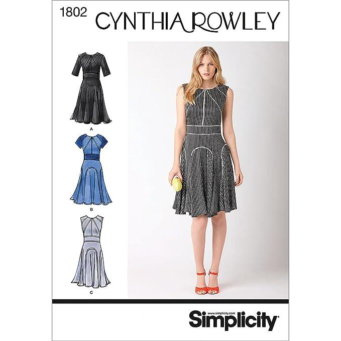Simplicity Muster 1802.r5 Cynthia Rowley Kollektion, Damenkleider ...