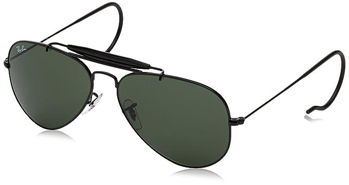 fa36a007fb Amazon.com  Ray-Ban Sunglasses RB3030 Outdoorsman   Frame  Black ...