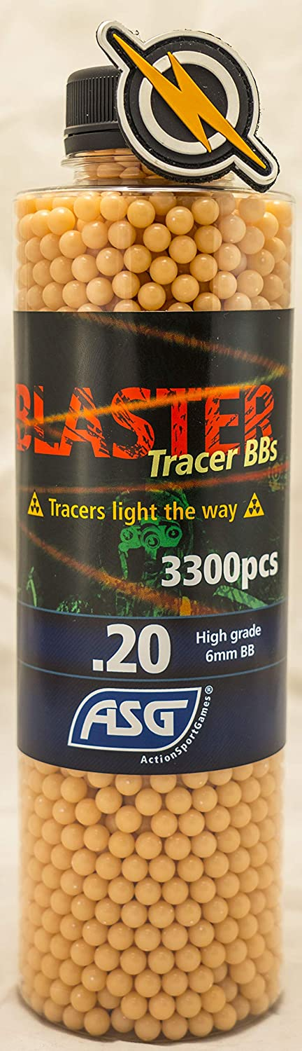 First and Only Airsoft Tracer Blaster .20 (Red) BBS y Parche 3300 Shot Munición Botella de munición para Pistolas y Pistolas de Calidad