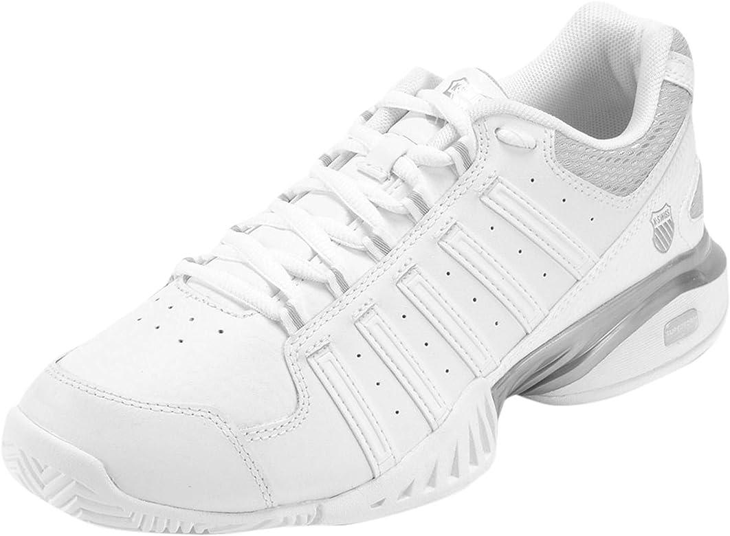 K-Swiss – Zapatillas de tenis para Outdoor Receptor III, color blanco, plateado, tamaño 38: Amazon.es: Deportes y aire libre