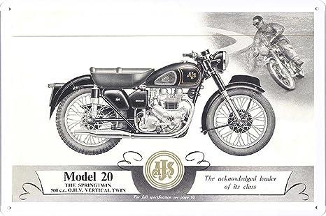 Amazon.com: AJS Modelo 20 motocicleta 7.8
