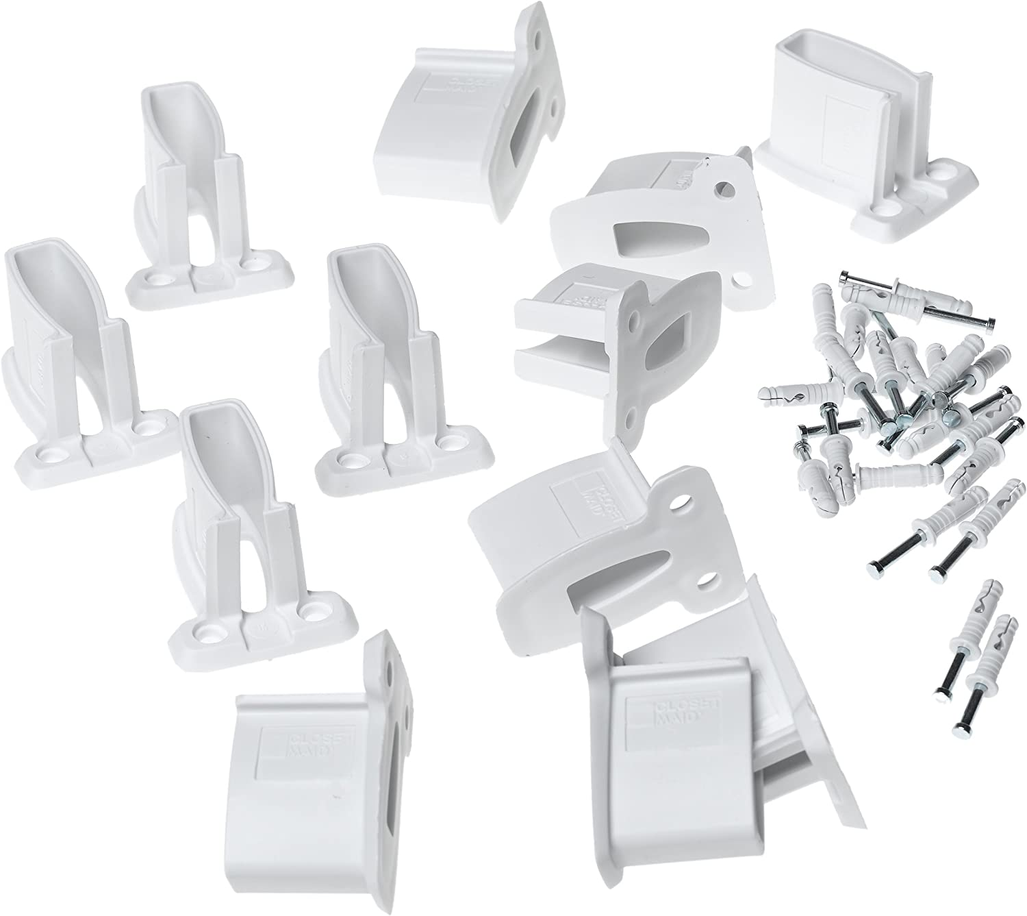 Closetmaid #7546 12PK White Down//Wall Clip