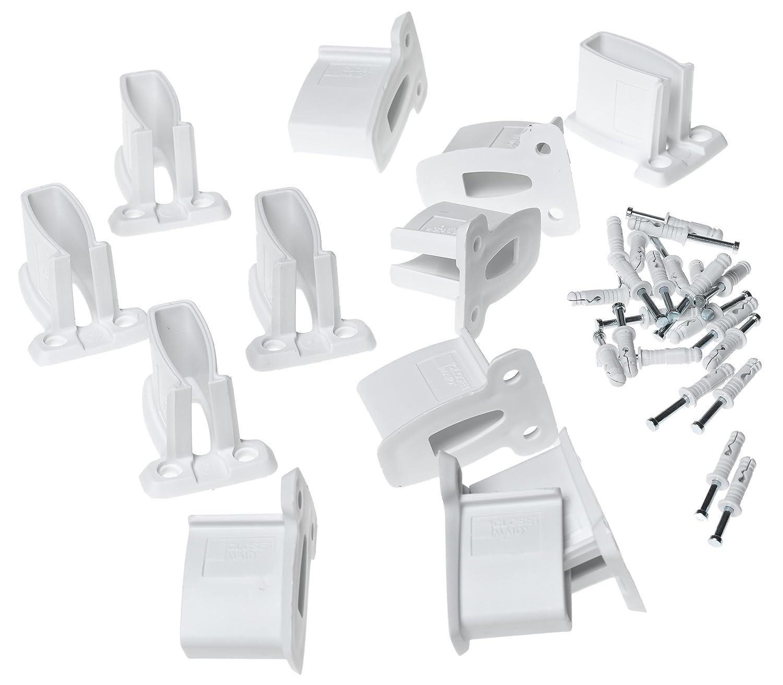 Amazon.com: ClosetMaid Wall Brackets, White, 12-Pack #1782: Home ...