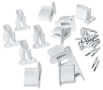 ClosetMaid Wall Brackets, White, 12 Pack #1782