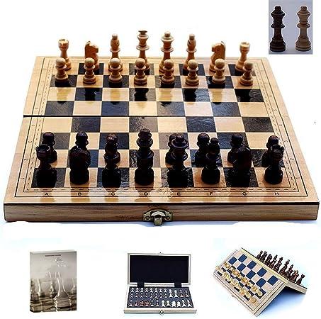 Ajedrez de Viaje L/s Tamaño de ajedrez de Madera Plegable con los magnético del Tablero