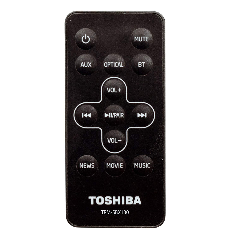 AUX Toshiba TY-SBX130B 2.0 Channel Bluetooth Soundbar TV Speaker Sound Bar with Optical USB Inputs /& Remote Control