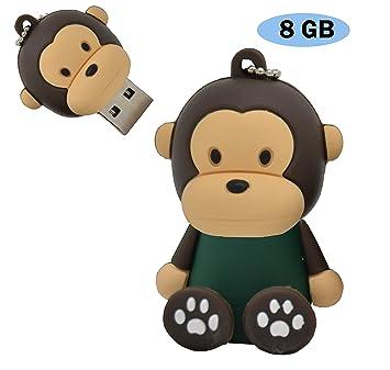 zapatillas de skate 50-70% de descuento bonito diseño USB Pendrive 8 GB Modelo Monos (8 GB, Mono Verde): Amazon.es ...