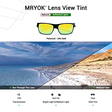 416c5ecf82 Amazon.com  Mryok Polarized Replacement Lenses for Wiley X Airrage - 24K  Gold  Clothing