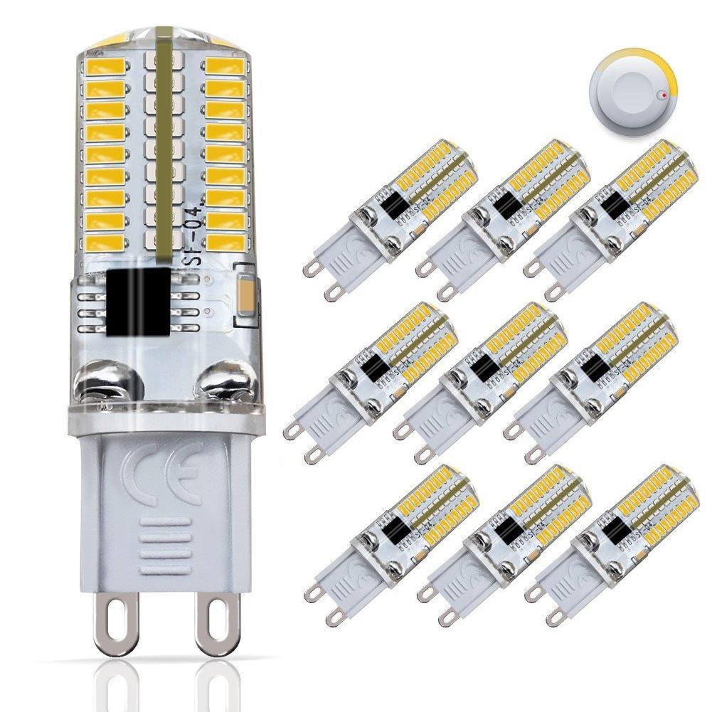 DiCUNO G9 Dimmable LED Bulb, 30 Watt Equivalent (3Watt) Soft White 3000K,120V, 10-Pack