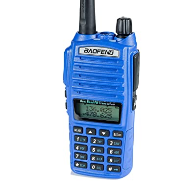 BaoFeng UV-82HP (Blue) High Power Dual Band Radio: 136-174mhz (VHF) 400-520mhz (UHF) Amateur (Ham) Portable Two-Way