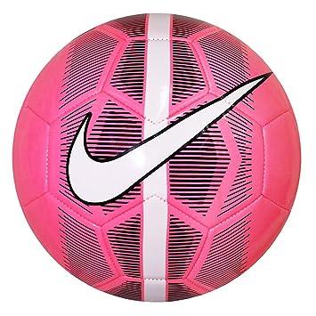 Nike Mercurial Fade pelota de fútbol rosada blanca negra: Amazon ...