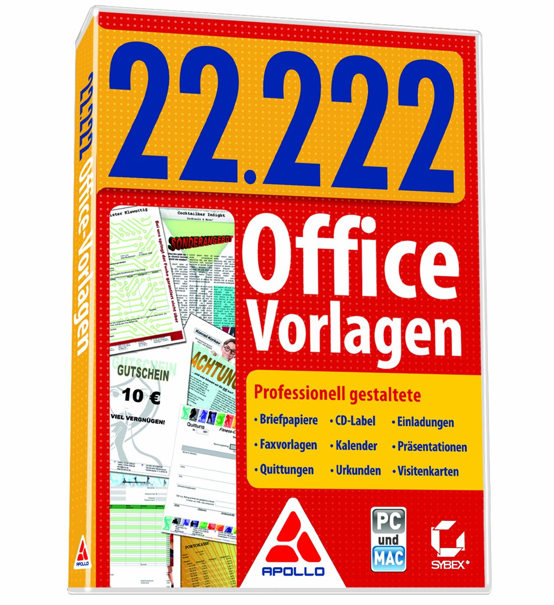 22.222 Office-Vorlagen: Amazon.de: Software