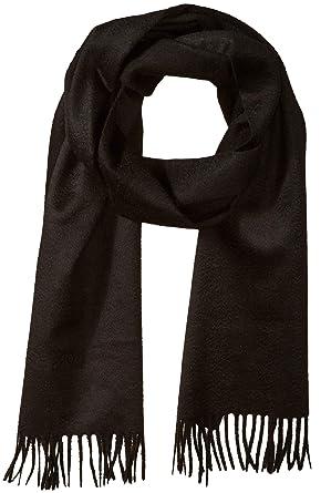 9d5e724b Amazon.com: BOSS Hugo Boss Men's T-Scottas Knitted Wool Scarf, Black ...