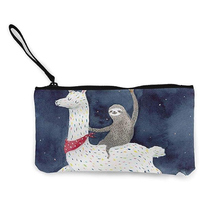 Amazon.com: Sloth Riding Llama Monedero de viaje de ...
