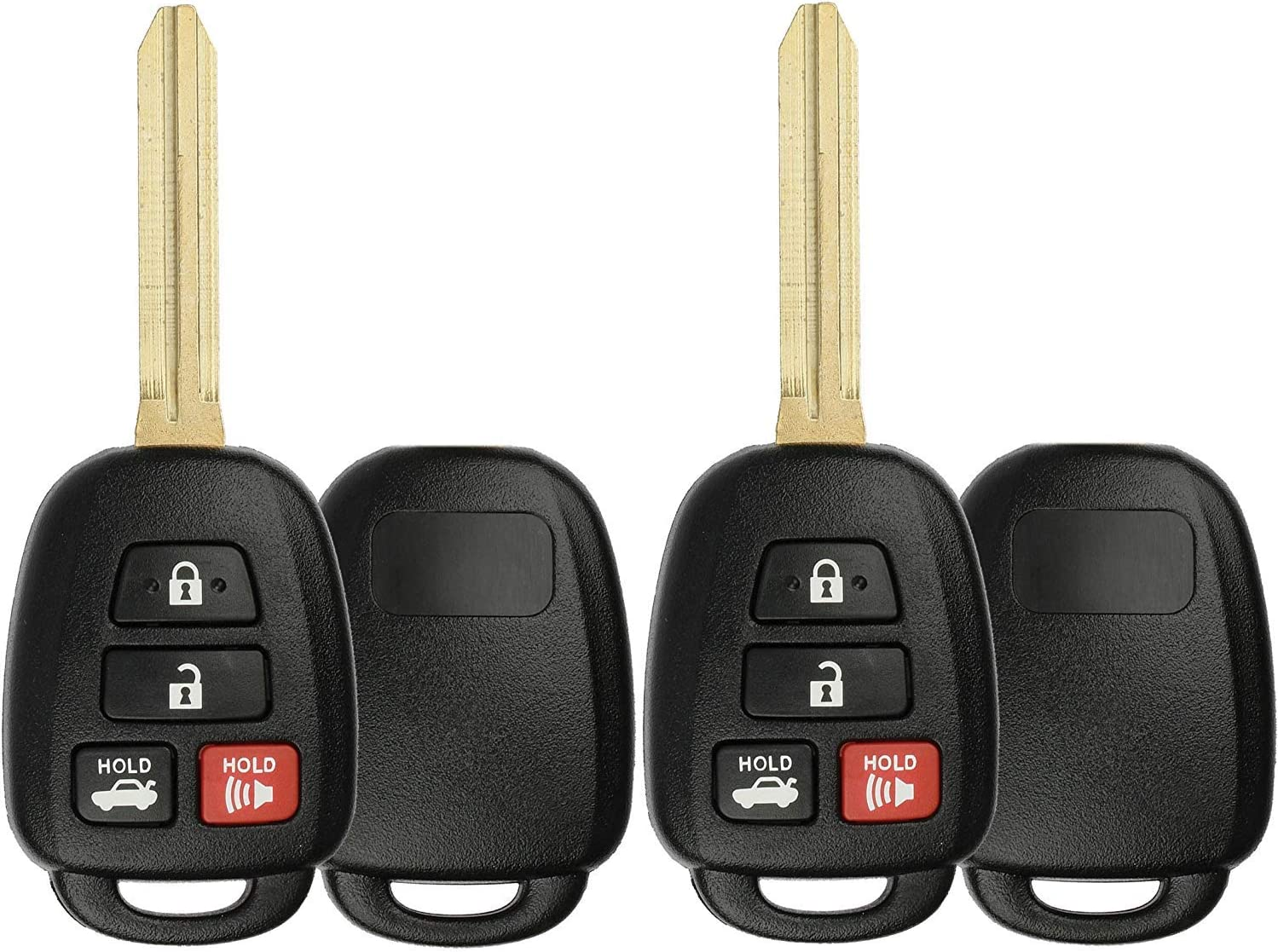 cciyu 1PC Uncut 4 Buttons Keyless Entry Remote Fob Case Replacement fit for Scion FR-S Toyota Camry Corolla RAV4 HYQ12BDM, HYQ12BEL