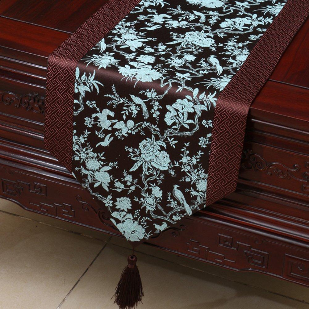 YBX Chemin de Table Satin Linge de Table Nappe Table Qualit/é Vintage D/écorations de Saison D/écor Maison Salon D/écor Table Salle /à Manger 33 150cm
