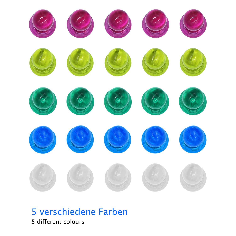 WINTEX 30 imanes de colores - pins magnéticos, figuras magnéticas ...