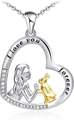 Solid 925 Sterling Silver Necklace Horse Pendant 18 inch Chain Gift Boxed