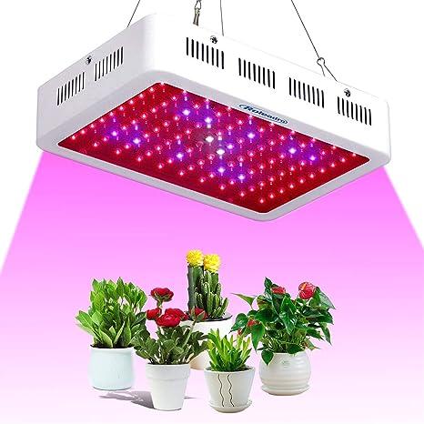 Roleadro LED Cultivo 450w Lampara Cultivo Talla Grande,Focos CultivoLuces LED Grow con La luz UV del IR para Armario Cultivo Interior