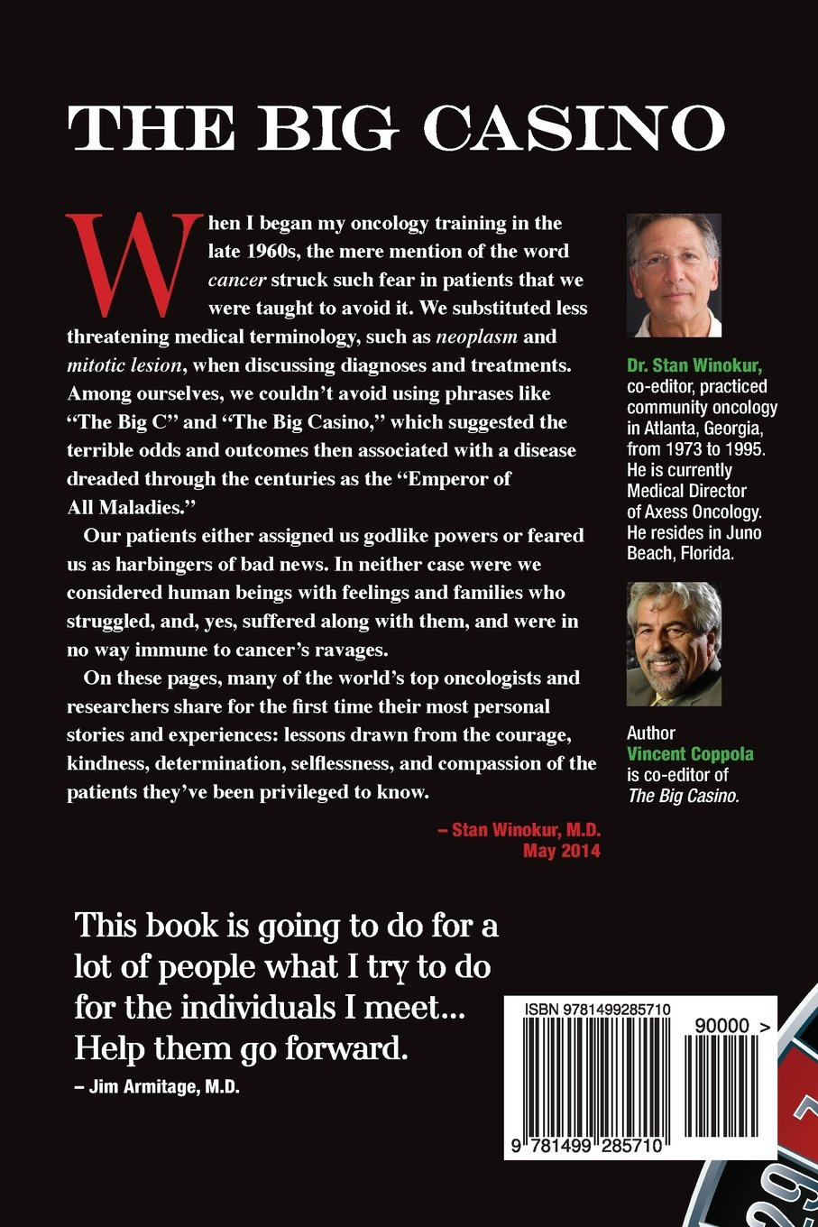 The Big Casino: America's Best Cancer Doctors Share Their Most Powerful  Stories: Vincent Coppola: 9781499285710: Amazon: Books