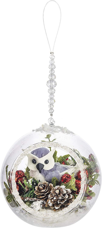 Ganz Snowy Owl Terrarium Ornament